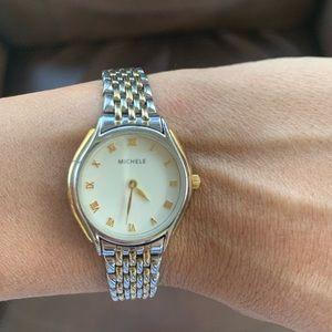 Authentic Michele mini watch